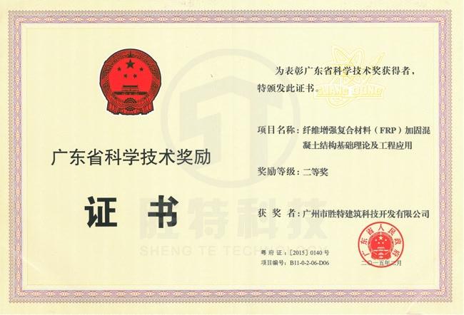 广东省科学技术二等奖