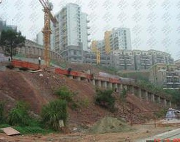 郴州某道路路侧锚杆边坡支护加固工程