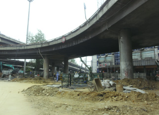 [桩基托换]成都青龙场立交桥桩基托换工程